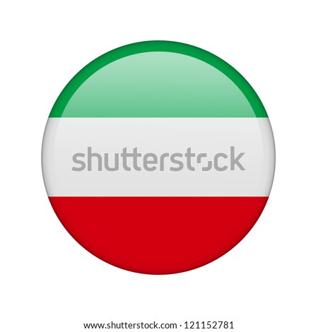 The Kuwaiti flag in the form of a glossy icon. - stock photo