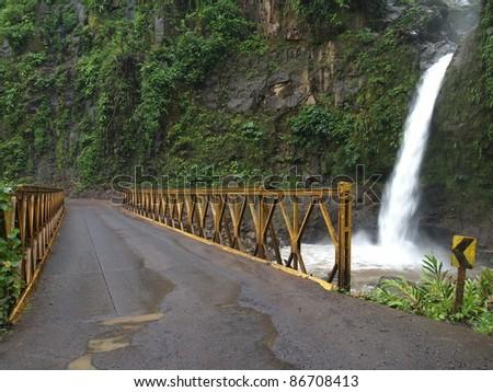 The  La Paz waterfalls in Costa Rica - stock photo