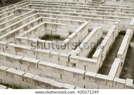 The labyrinth of Lithica, S'Hostal Quarries. Menorca, Balearic Islands  - stock photo