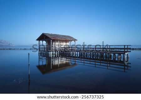 The lagoon of Messolonghi in Greece  - stock photo