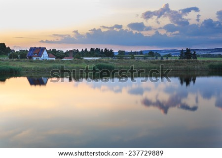 The lake Goldbergsee near Coburg at summer, Germany, Europe