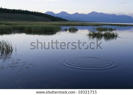 The lake Khubsugul. Mongolia - stock photo