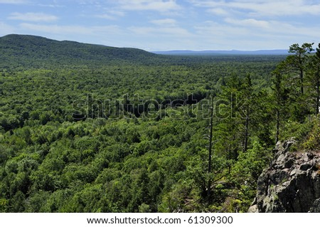 The Lake of the clouds in the Porcupine Mountains Wilderness State Park.Michigan