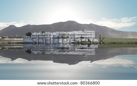 The Lake Palace, Udaipur Rajasthan - stock photo