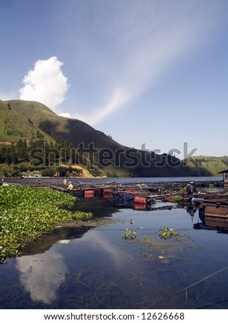 The Lake Toba View from Tongging , North Sumatra – Indonesia
