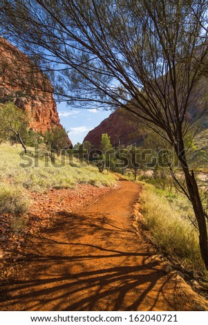 The landscape of Alice Springs , Australia - stock photo