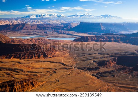 The landscape of Canyonlands National Park - stock photo