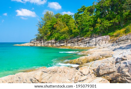 The landscape of Sea and Shore - stock photo