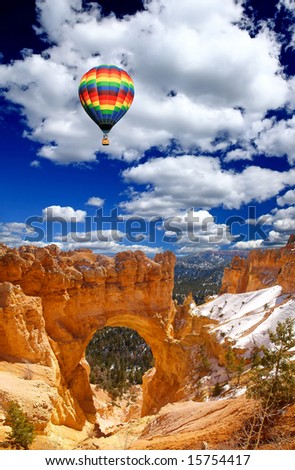 The landscape of The Bryce Canyon National Park in Utah - stock photo
