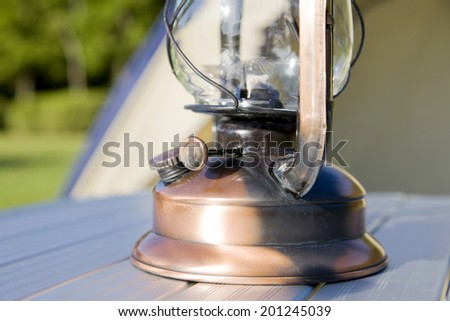 The lantern on the table