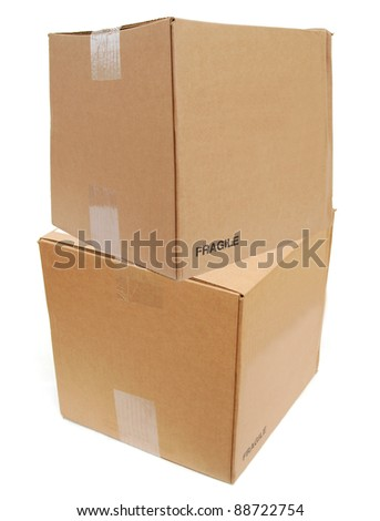 the large size shipping boxes - stock photo