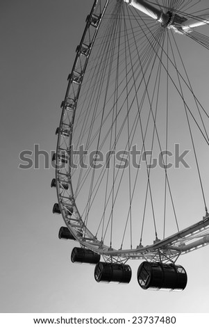 The largest ferris wheel in the world in Singapore. - stock photo