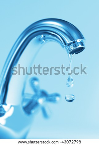 The Last Drop - stock photo