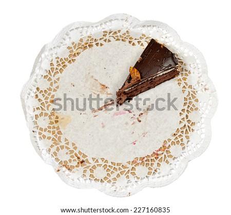 the last piece of cake - stock photo