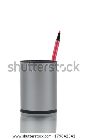 The Last Pink Marker - stock photo