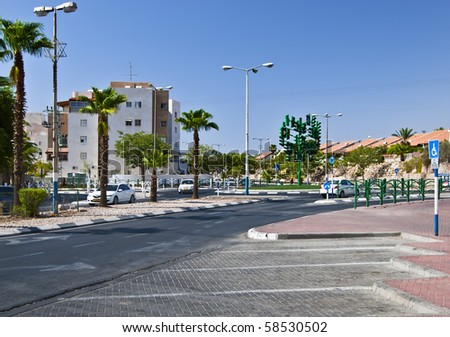 the last traffic light at Eilat city