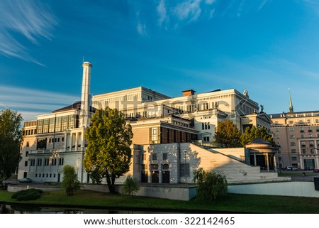 The Latvian national opera and ballet theater in Riga - stock photo