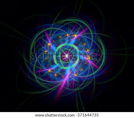 The Law of Attraction abstract illustration - stock photo