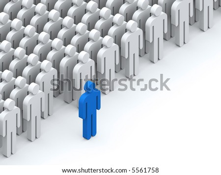 The leader - stock photo