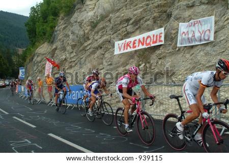 the leaders in the Villard de Lans stage - 2004 Tour de France - stock photo