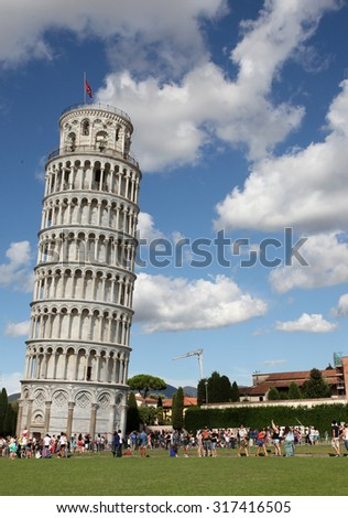 The Leaning Tower of Pisa, Italy - stock photo