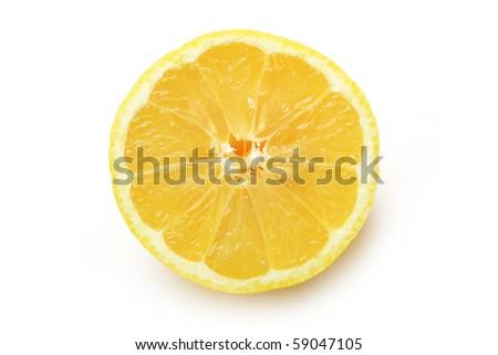 The lemon isolated on white background - stock photo