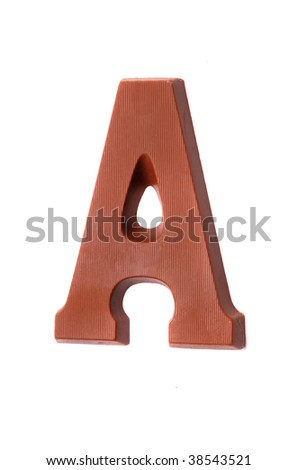 The letter A, special candy for the Sinterklaas celebration - stock photo