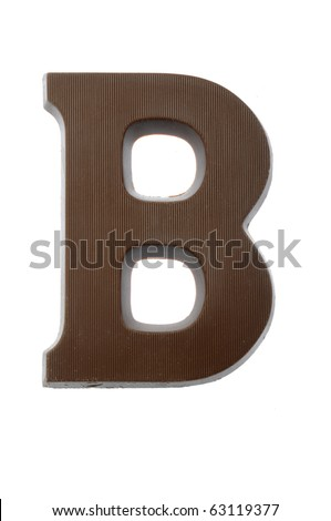 The letter B, special candy for the Sinterklaas celebration - stock photo