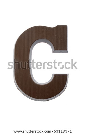 The letter C, special candy for the Sinterklaas celebration - stock photo