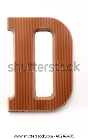 The letter D, special candy for the Sinterklaas celebration - stock photo