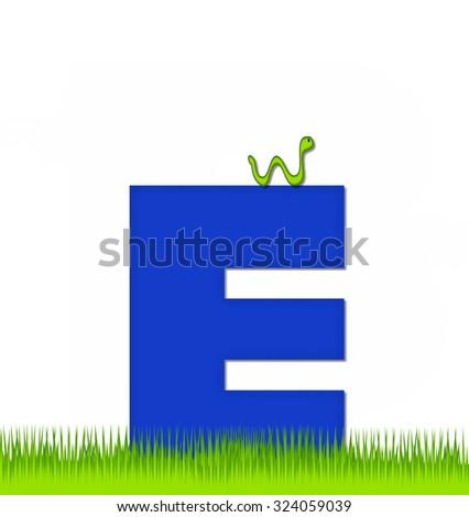 letter e alphabet set apple day stock illustration 324060494
