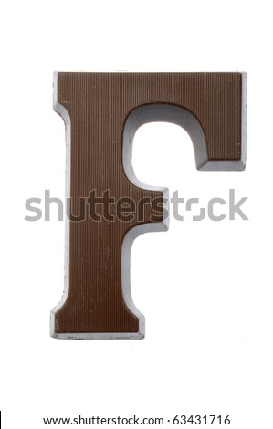 The letter F, special candy for the Sinterklaas celebration - stock photo