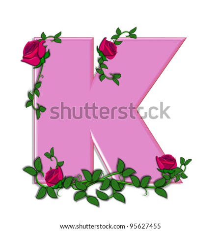 K Letter In Rose Rose Garden Stock Photos, Rose Garden Stock Photography, Rose Garden ...