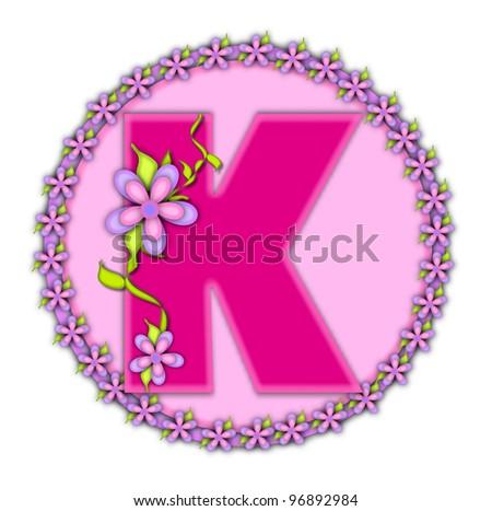 K Letter Images In Pink The letter K  in the alphabet