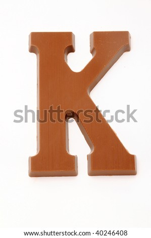 The letter K, special candy for the Sinterklaas celebration - stock photo