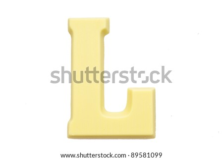 Letter S Special Candy Sinterklaas Celebration Stock Photo