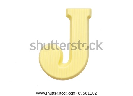 The letter L , special candy for the Sinterklaas celebration - stock photo