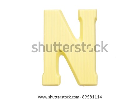 The letter L , special candy for the Sinterklaas celebration