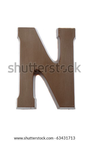 The letter N, special candy for the Sinterklaas celebration - stock photo