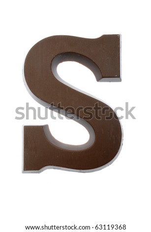 The letter S , special candy for the Sinterklaas celebration - stock photo