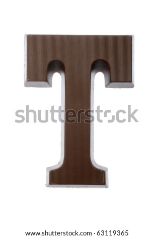 The letter T, special candy for the Sinterklaas celebration - stock photo