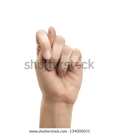The letter T using American Sign Language