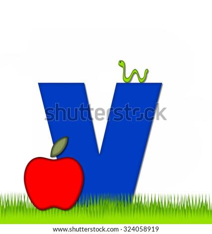 letter j alphabet set apple day stock illustration 324060449