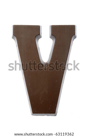 The letter V, special candy for the Sinterklaas celebration - stock photo