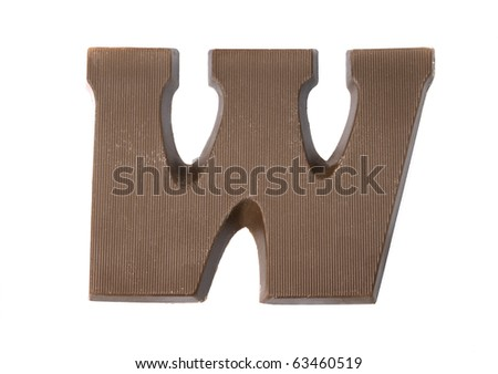 The letter W. special candy for the Sinterklaas celebration - stock photo
