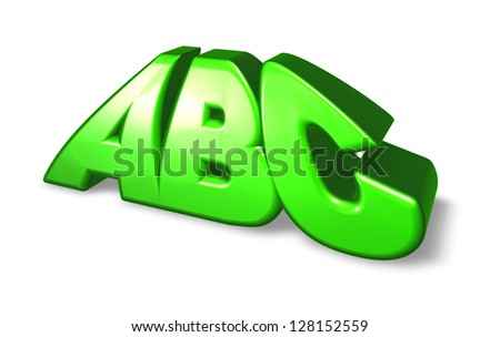 the letters abc on white background - 3d illustration