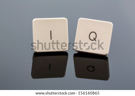 "the letters ""iq"" as a symbol photo for intelligence quotient. - stock photo"