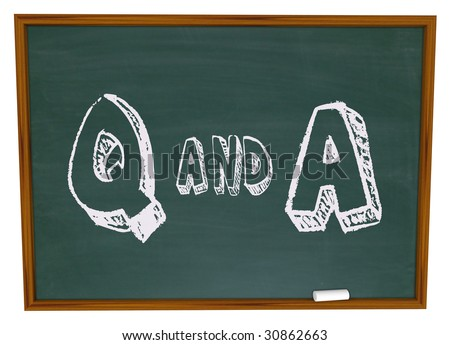 The letters Q and A written on a chalkboard