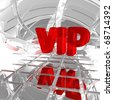 the letters vip in abstract space - 3d illustration - stock photo