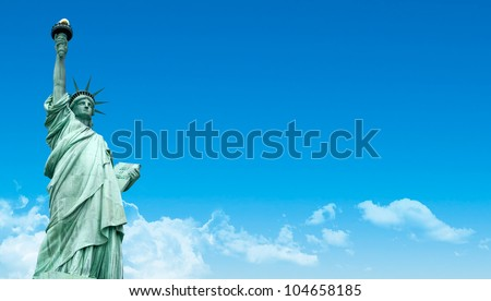 The Liberty Statue, New York - stock photo